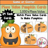 Place Value Pumpkins using 1000s place