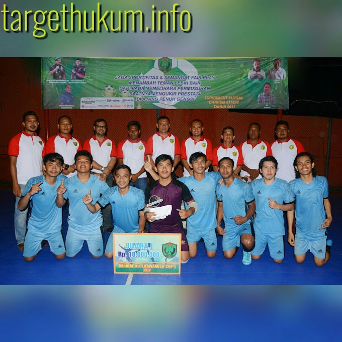 Tim Futsal Korem 011 Juara Piala Danrem Cup I