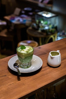 Matcha Affocado di Bohemian Cafe