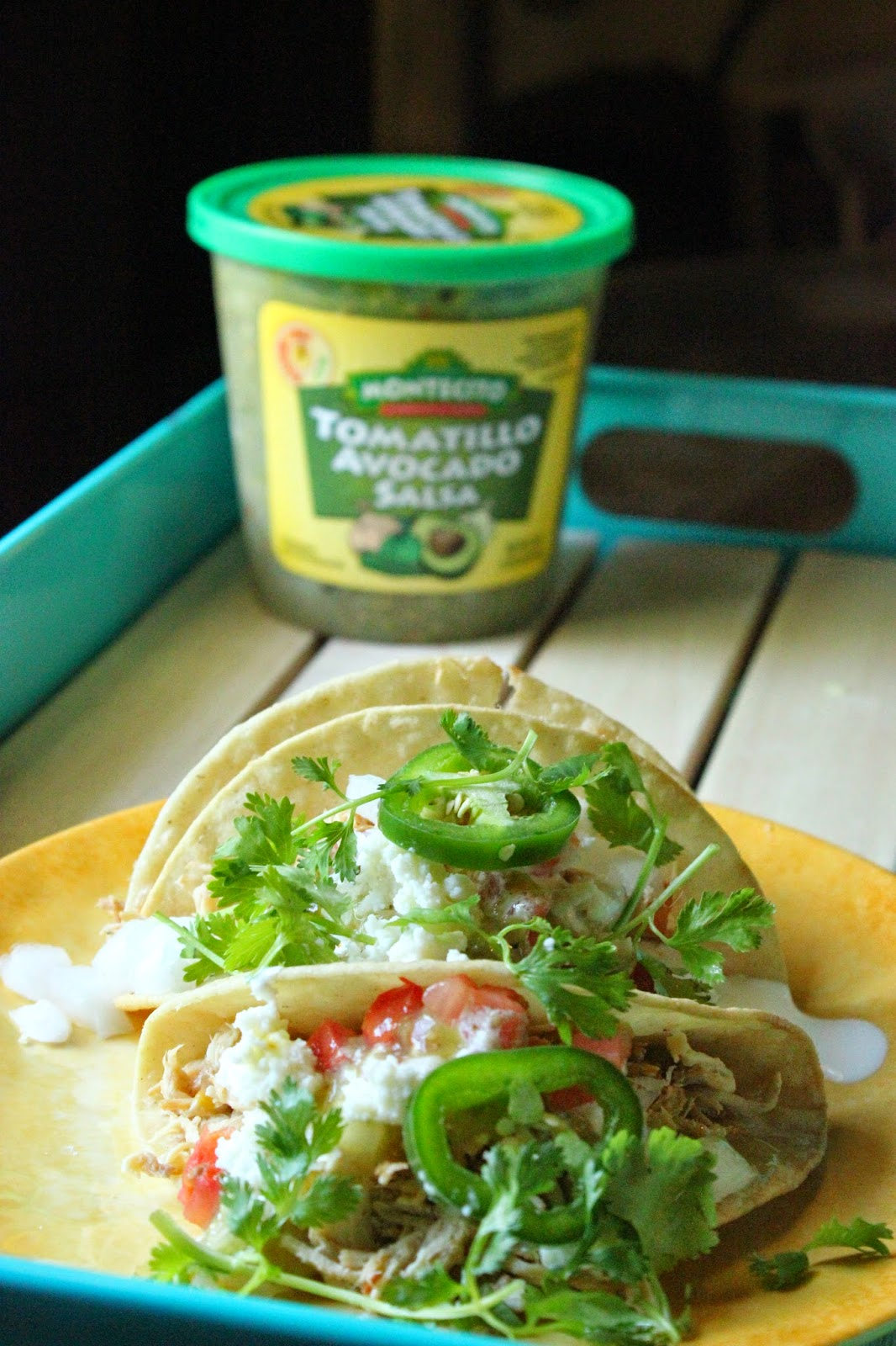 Recipe: Slow Cooker Green Chili Chicken Tacos #ChooseSmart #Shop