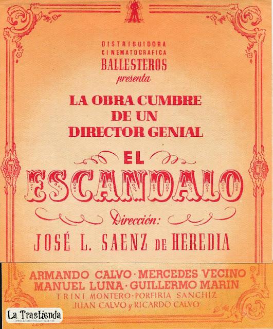 El Escándalo - Programa de Cine - Armando Calvo - Mercedes Vecino