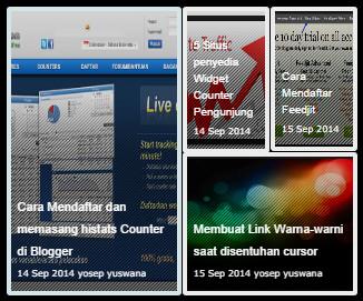 Cara Membuat Slideshow Thumbnail di Atas Posting Blog