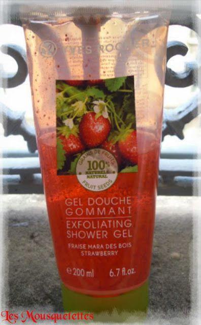 Gel douche gommant fraise Yves Rocher - Blog beauté Les Mousquetettes©