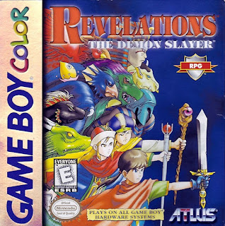 Portada del estuche con el cartucho de Revelation: The Demon Slayer, GBC, 1994, Atlus