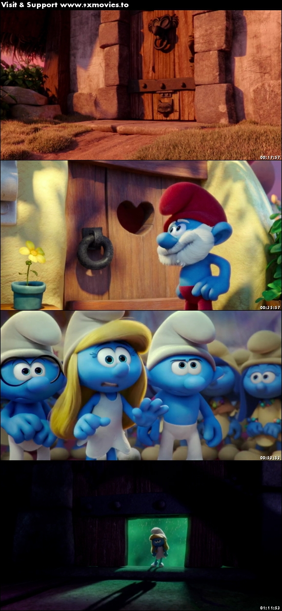 Smurfs The Lost Village 2017 Dual Audio Hindi 480p HDRip 300mb