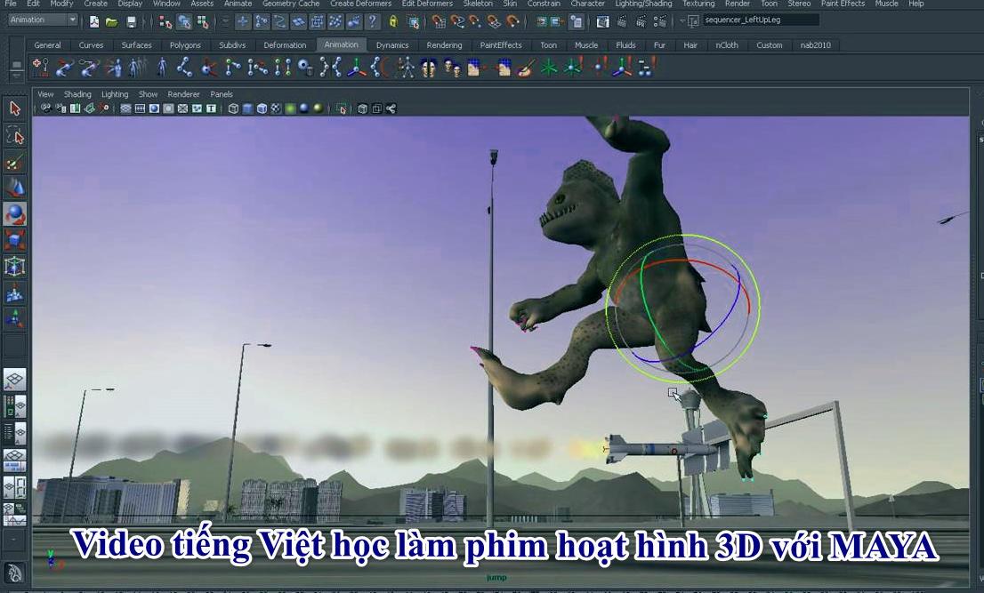 Video tiếng Việt học làm phim hoạt hình 3D với MAYA