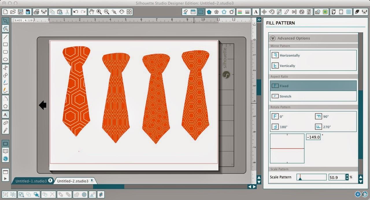 Patterns, adding, Silhouette Studio, easy steps, fill pattern, advanced