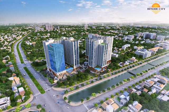 Phối cảnh chung cư Hinode Minh Khai