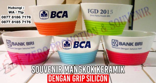 Bowl Silicone Mug, Mug Porselin Bowl Silikon, Promosi Mangkuk Silikon
