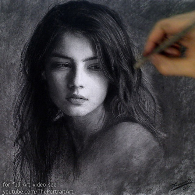 12-Female-Portrait-Xiaonan-Pencil-Charcoal-and-Pastel-Portrait-Drawings-www-designstack-co