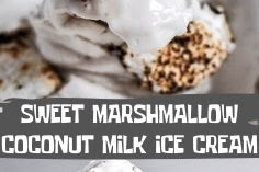 SWEET MARSHMALLOW COCONUT MILK ICE CREAM