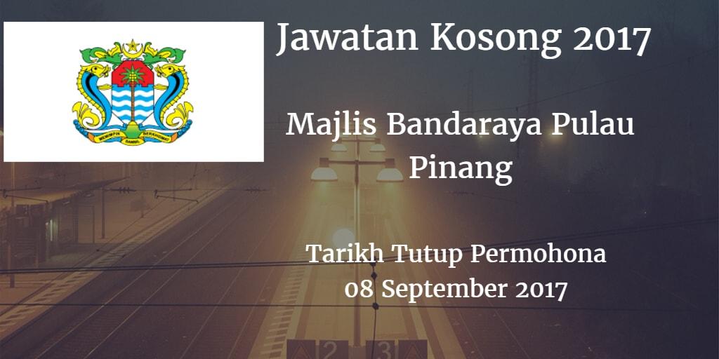 Jawatan Kosong MBPP 08 September 2017