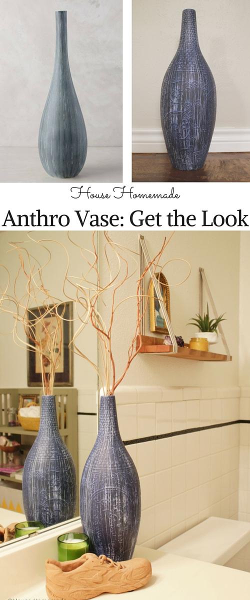 Anthropologie vase knock off; bathroom makever | House Homemade