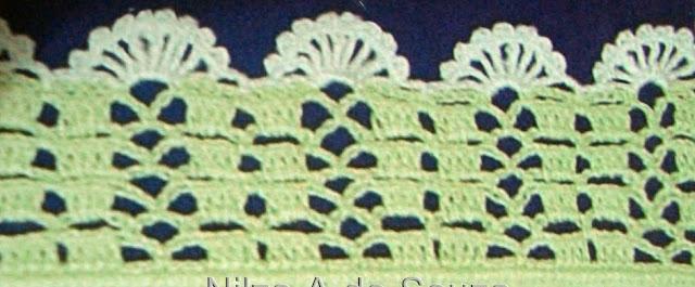Patrón #1559: Puntilla a Crochet