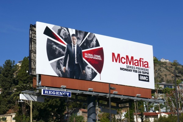 McMafia series launch billboard