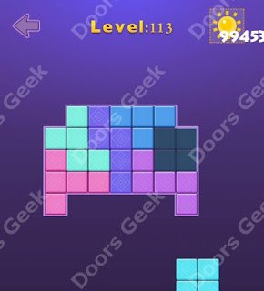 Cheats, Solutions, Walkthrough for Move Blocks Easy Level 113
