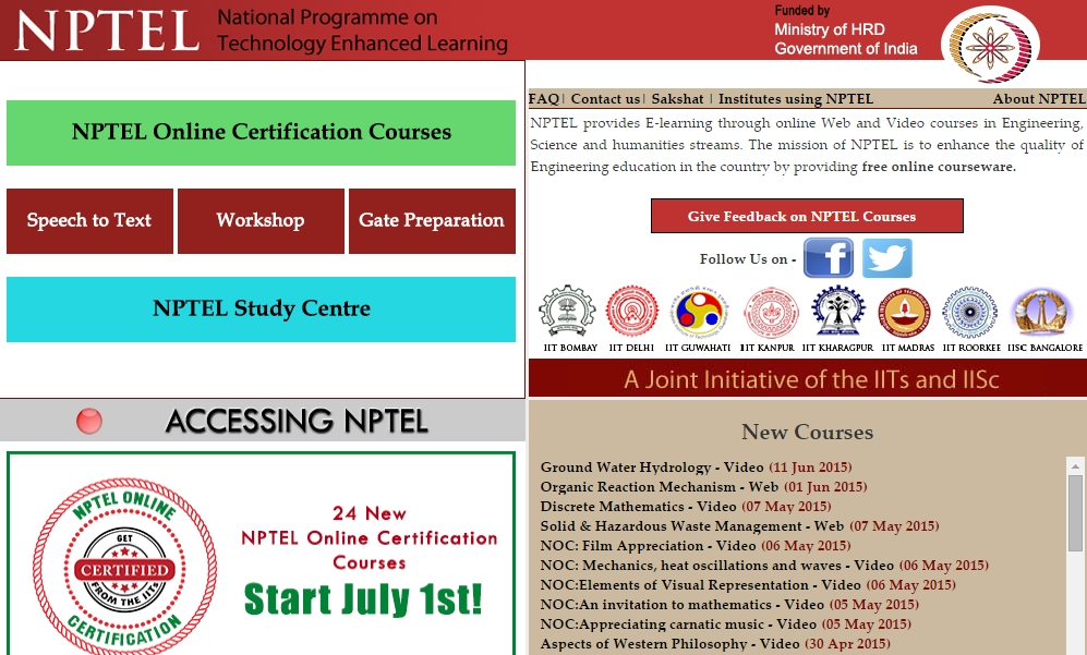 Get 100+ Free IIT IISc Online Courses and Certificate thanks to the