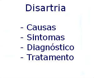 Disartria causas sintomas diagnóstico tratamento prevenção riscos complicações