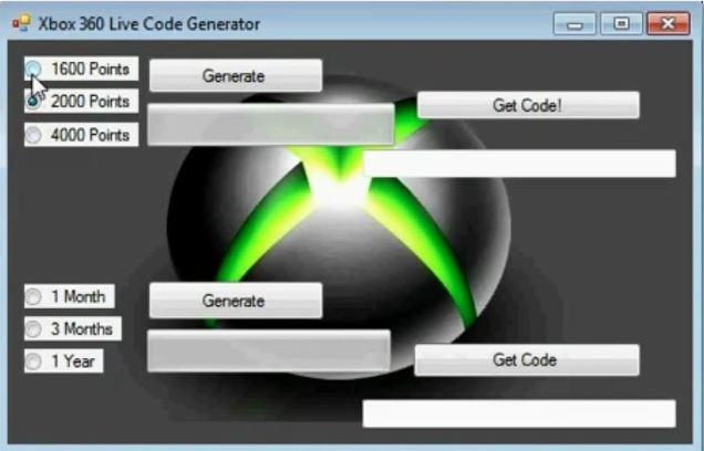 Free Generators: Xbox Live Gold Code Generator 2013