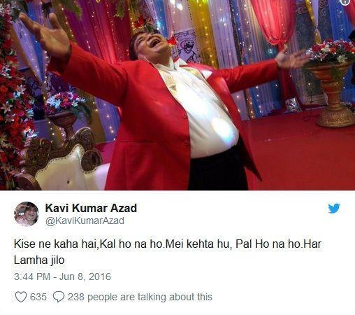 Kavi Kumar Azad last tweet