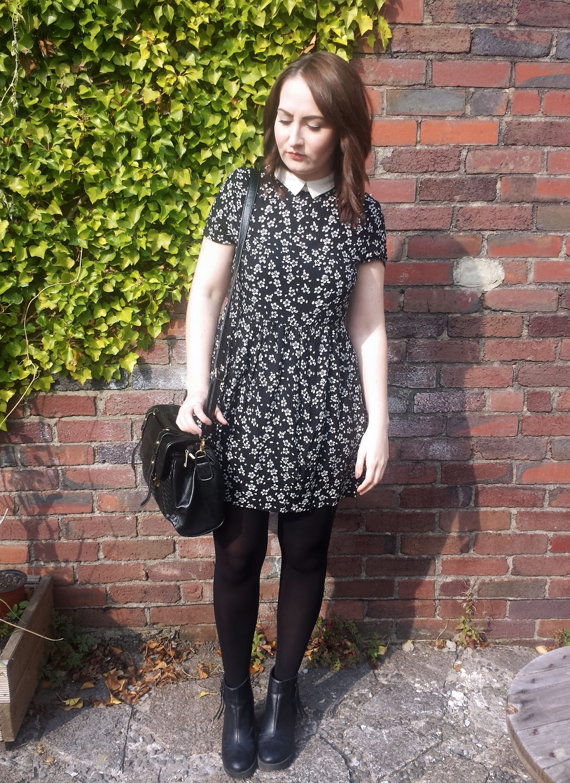 Just For £5 Monochrome Floral Dress