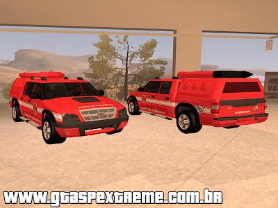 Chevrolet s10 Bombeiros SP com Bote para GTA San Andreas