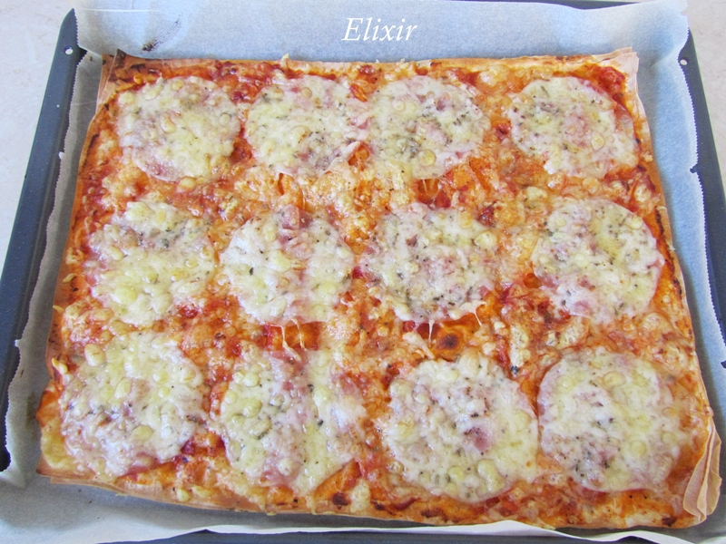 супер тънка пица с кори за баница