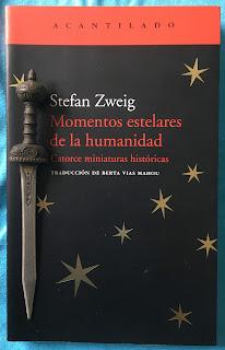 Portada del libro Momentos estelares de la humanidad, de Stefan Zweig