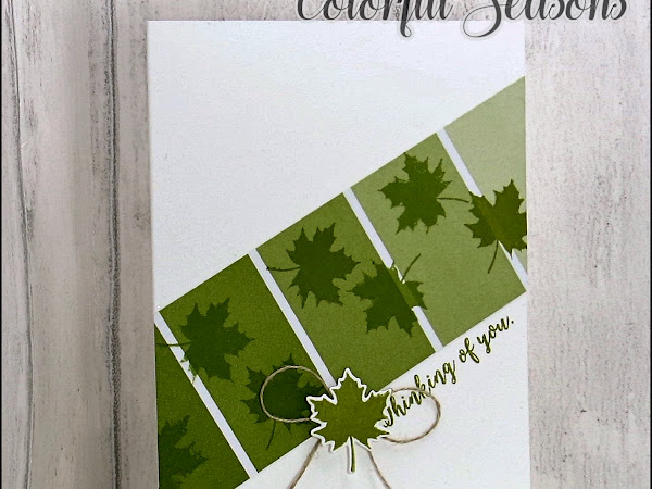 Colorful Seasons Clean and Simple Card