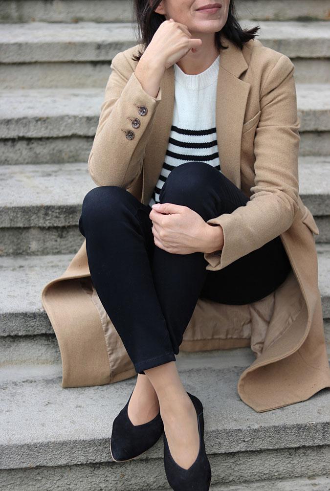 stylizacja camelowy płaszcz 2019