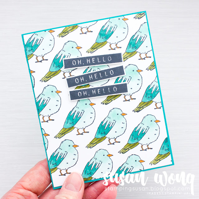 Color Me Happy Stamps + Stampin' Blends - Susan Wong