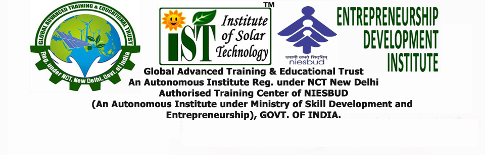 3 Place in India, Solar training for PV installers, Center of NIESBUD,  MSDSE