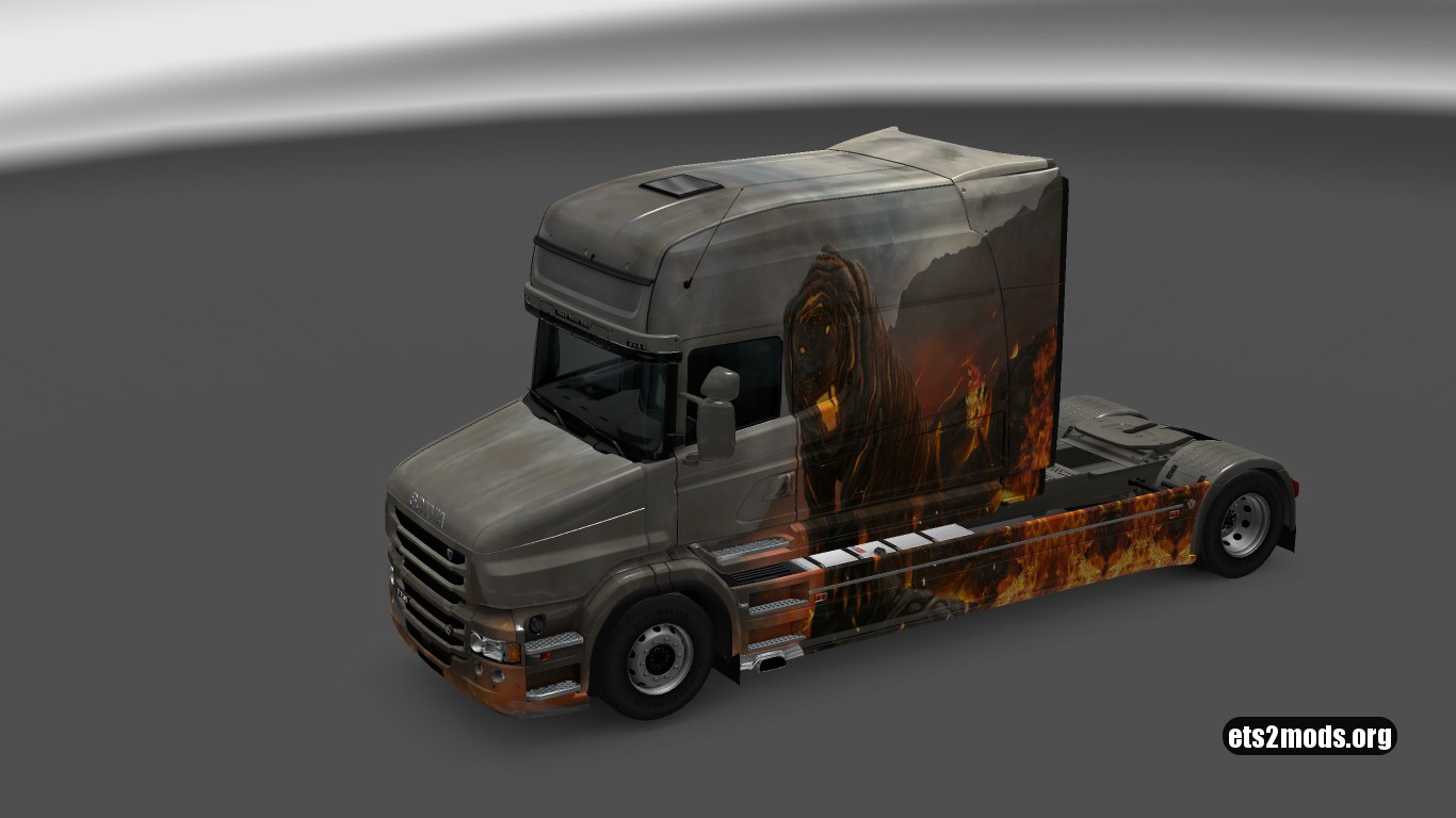 Vulkanicheskiy Tiger Skin for Scania T Longline