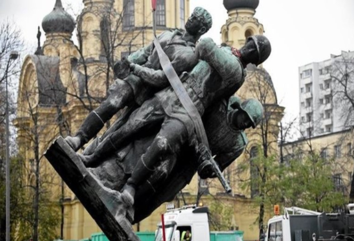Image result for Russian statues in Poland disappearing