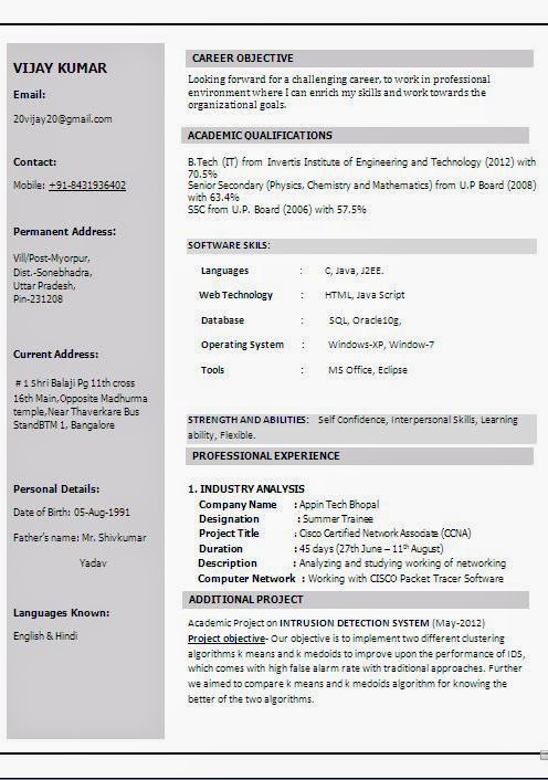 Resume Headline Network Engineer Example Good Resume Template
