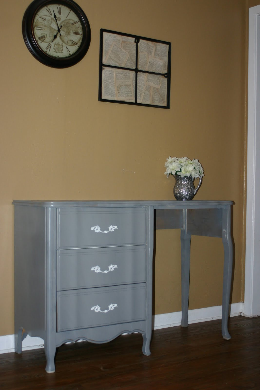 Charming Creations French Provincial Gray Desk Or Vanity