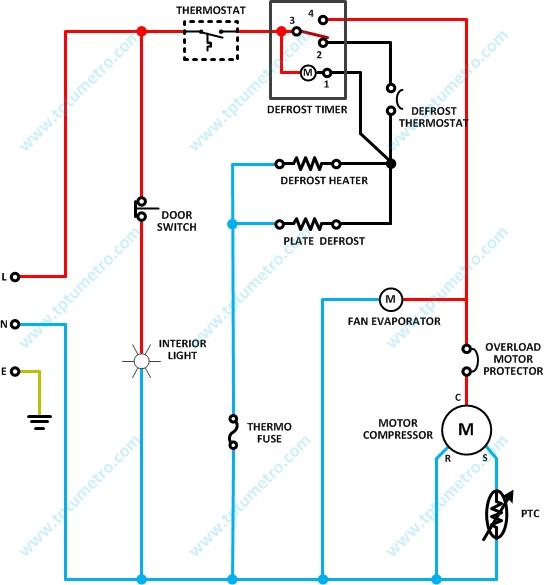 Wiring Diagram Refrigerator    Kelistrikan Kulkas Dua Pintu