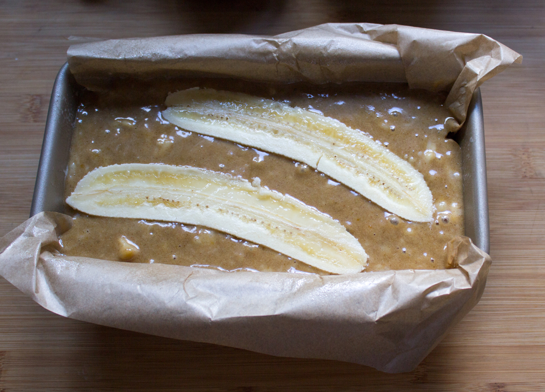 Banana Bread ready for the oven