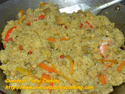 Pinoy Arroz Valenciana - Cooking Procedure