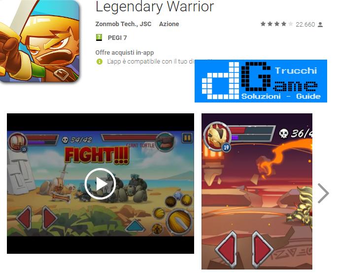 Trucchi Legendary Warrior Mod Apk Android v1.0.12