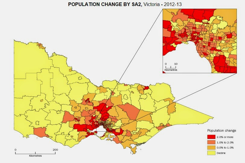 Population change by sa2 victoria