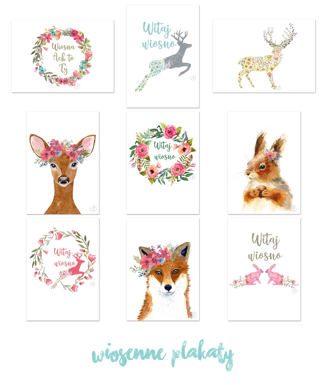 Simply About Home 9 Wiosennych Plakatów Do Druku
