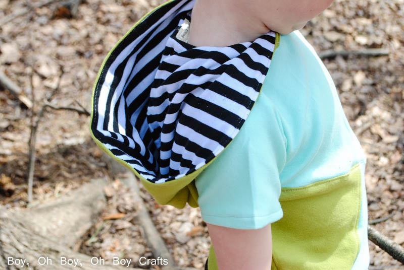 How to colorblock a t-shirt - Blank Slate Patterns Tee Times Three sewn by Boy, Oh Boy, Oh Boy