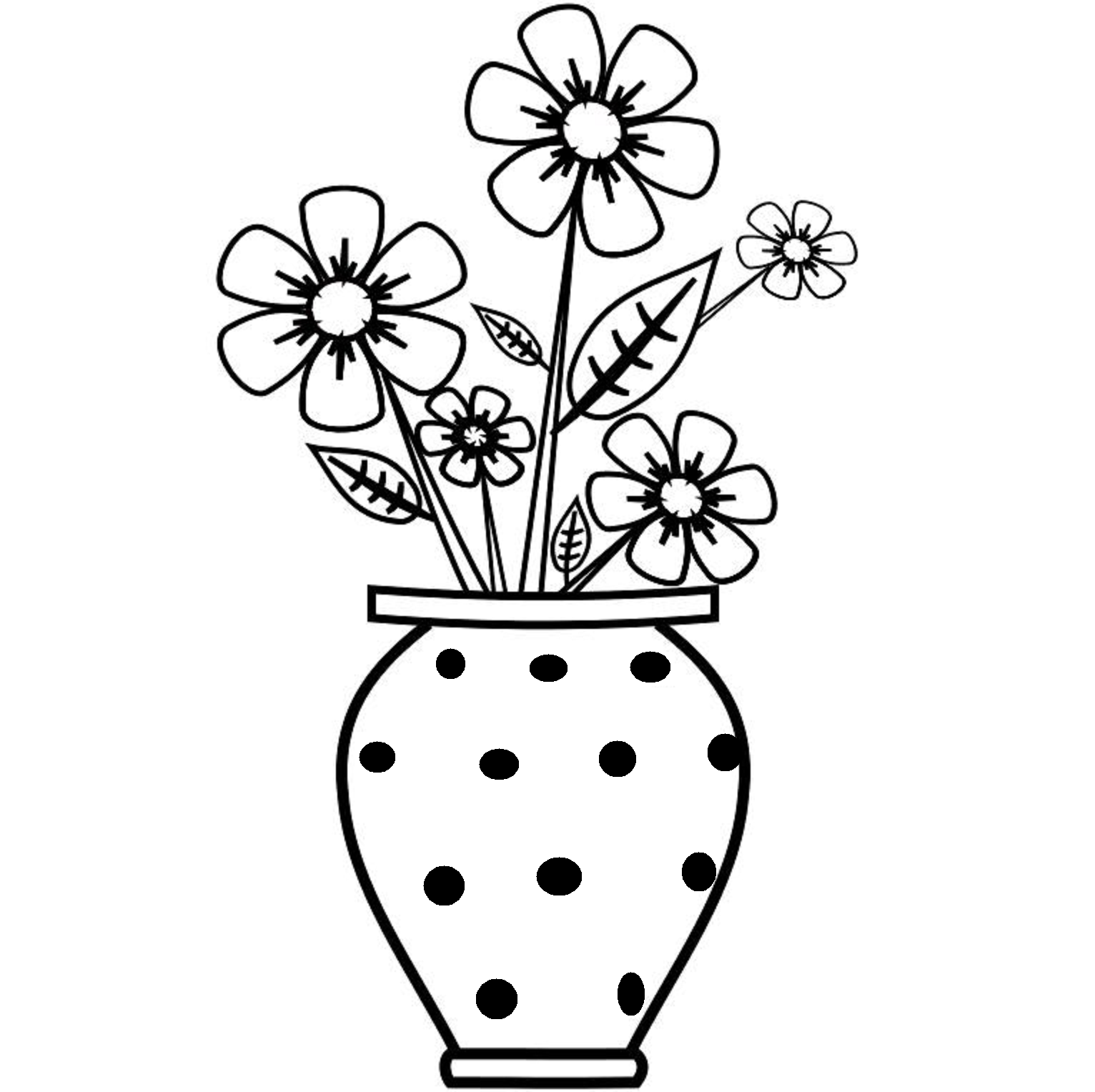 flower vase pictures to color - photo #17