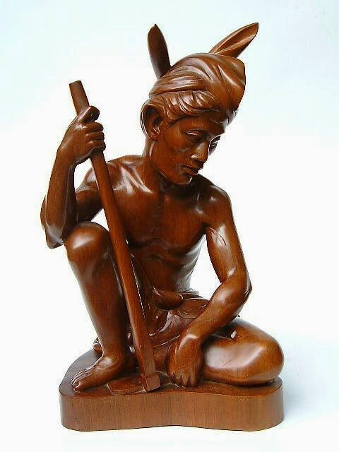 wooden sculpture from Bali