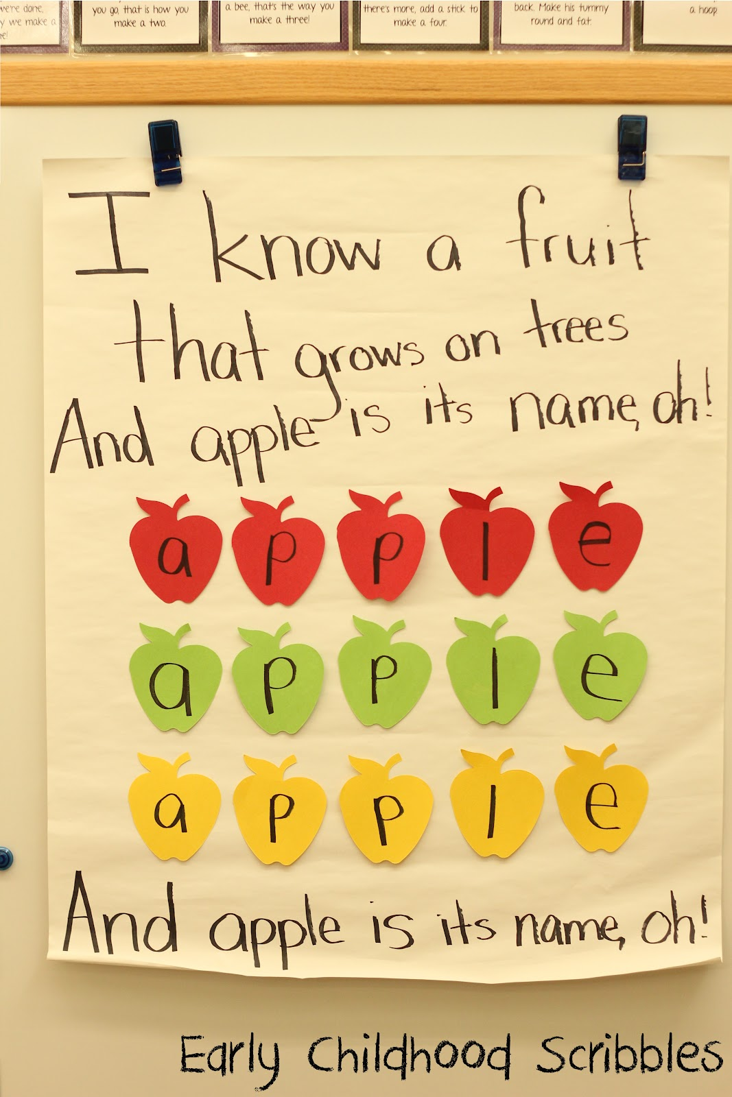 Early Childhood Scribbles Apples