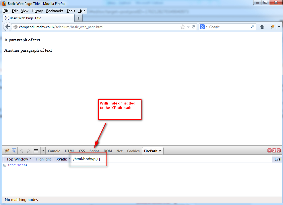 how to write absolute xpath in selenium
