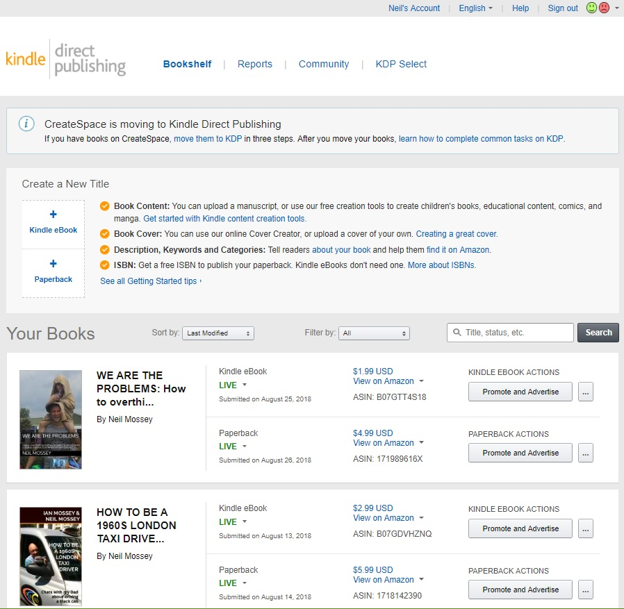 Neil Mossey: HOW TO SELF-PUBLISH AN EBOOK ON AMAZON (OR