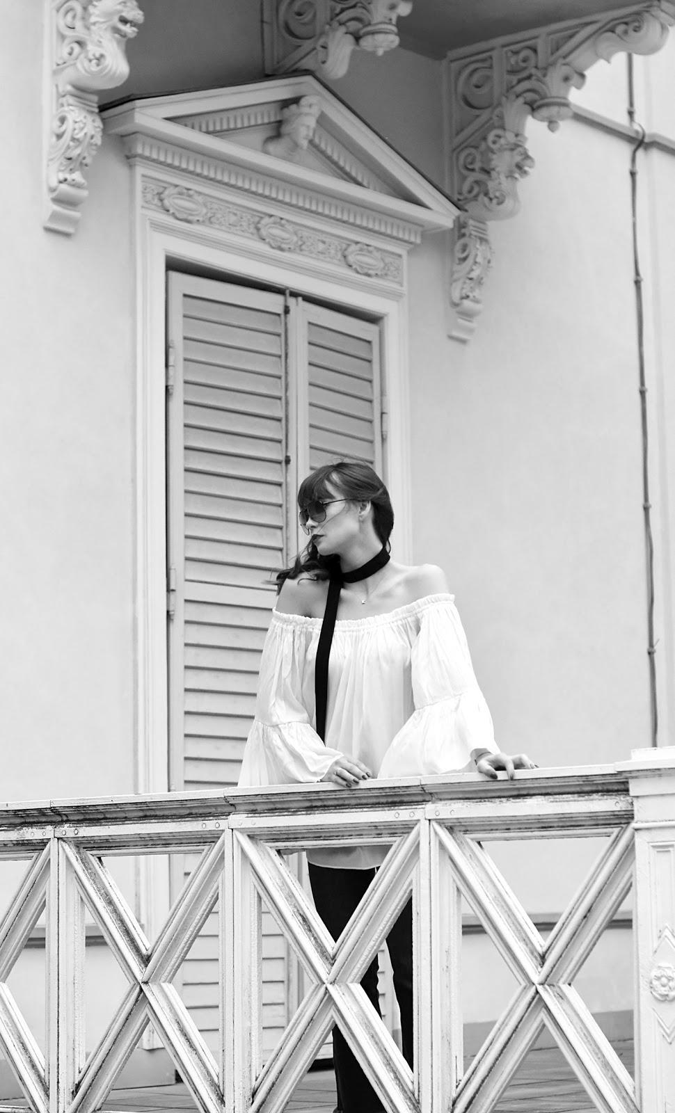 sesja w wilanowie | blog modowy | blog o modzie | biala bluzka