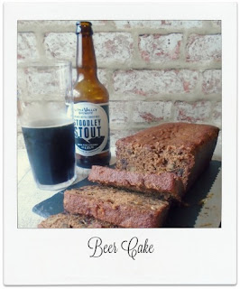 Perfect for the coming colder months, this easy to make beer cake is low in fat & packed with flavour courtesy of the dates, walnuts, spices and stout.    .